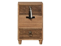 LivingStyles Phoenix Wooden Tabletop 3 Drawer Storage Chest