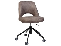 Albury Commercial Grade Eastwood Fabric Gas Lift Office Chair, Donkey / Black