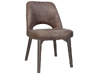 LivingStyles Albury Commercial Grade Fabric Dining Chair, Timber Leg, Donkey / Olive Grey