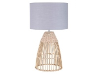 LivingStyles Foster Rattan Base Table Lamp