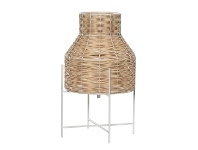 LivingStyles Grove Rattan & Metal Table Lamp