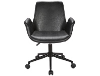 LivingStyles Marseille Faux Leather Office Chair, Black