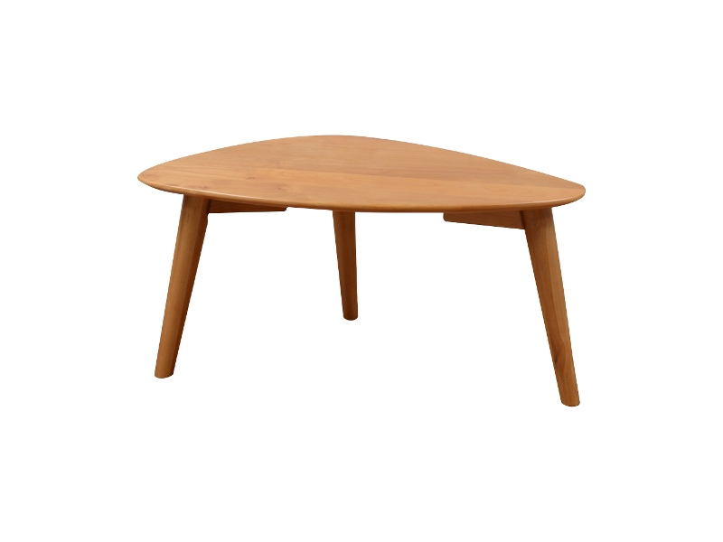 Milan Alder Timber Triangle Coffee Table, 70cm