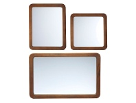 LivingStyles Midwod 3 Piece Wooden Frame Wall Mirror Set