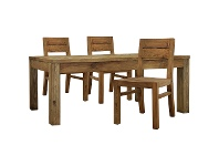 LivingStyles Mandalay Recycled Pine Timber 7 Piece Dining Table Set, 200cm