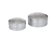 LivingStyles Chara 2 Piece Aluminium Canister Set
