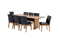 LivingStyles Nobby Blackwood Dining Table (Table Only), 230cm