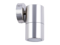 LivingStyles Roslin IP65 Exterior Fixed Down Wall Light, GU10, Stainless Steel