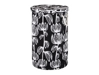 LivingStyles Alma Cotton Fabric Collapsible Laundry Basket