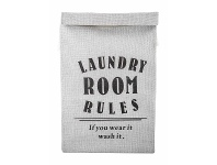 LivingStyles Laundry Room Rules Fabric Laundry Hamper