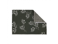 LivingStyles Olive Grove 4 Piece Fabric Placemat Set, Olive