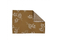 LivingStyles Olive Grove 4 Piece Fabric Placemat Set, Mustard