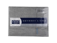 LivingStyles Odyssey Living Marle 1000TC Cotton Rich Sheet Set, Queen, Charcoal