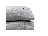 LivingStyles Odyssey Living Lily 1000TC Cotton Rich Sheet Set, Queen, Pale Grey