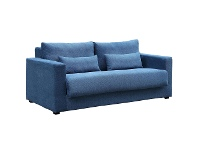 LivingStyles Carmel Fabric Pull Out Sofa Bed, 3 Seater, Blue