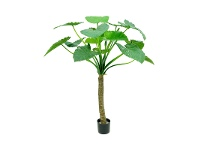 LivingStyles Potted Artificial Alocasia Calidora Tree, 135cm