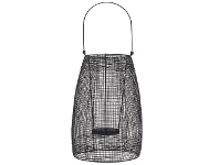 LivingStyles Hyde Metal Mesh Lantern, Small, Black