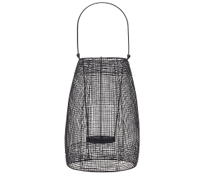 Hyde Metal Mesh Lantern, Small, Black