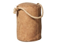 Rover PU Leather Round Door Stopper, Tan