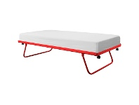 LivingStyles Tubeco Australian Made Metal Trundle Bed, King Single, Red
