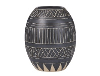 LivingStyles Sioux Glazed Earthenware Vase, Small
