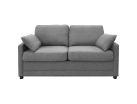 LivingStyles Tofta Fabric Sofa Bed, Double, Mid Grey