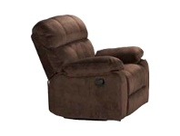 LivingStyles Stade Fabric Recliner Sofa, 1 Seater, Truffle