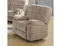 LivingStyles Stade Fabric Recliner Sofa, 1 Seater, Latte