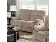 LivingStyles Stade Fabric Recliner Sofa, 2 Seater, Latte
