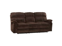 LivingStyles Stade Fabric Recliner Sofa, 3 Seater, Truffle