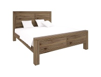 LivingStyles Horsens Acacia Timber Bed, Double