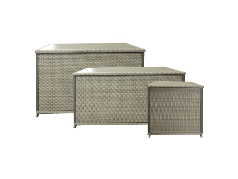 Mackson Wicker Outdoor Cushion Storage Box, Large Only