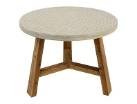 Aria Cement & Acacia Indoor / Outdoor Round Side Table
