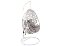LivingStyles Hakim Wicker Hanging Pod Chair, White