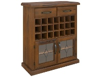 LivingStyles Mulford Solid Pine Timber Wine Rack