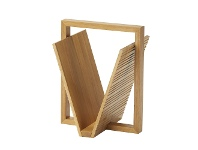 LivingStyles Hemsley Oak Timber Magazine Holder