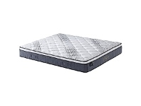 LivingStyles Orthopractic Deluxe Pocket & Continuous Spring Mattress with Memory Foam Pillow Top, King Single