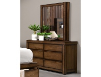 LivingStyles Stanmore Wooden Dresser with Mirror