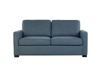 LivingStyles Branson Fabric Pull Out Sofa Bed, with Memory Foam Mattress, Queen, Ink