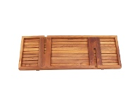 LivingStyles Archie Solid Teak Timber Bath Caddy