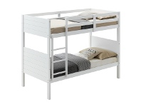 LivingStyles Welling Wooden Bunk Bed, Single, White