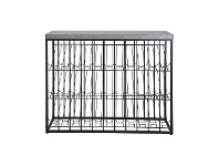 LivingStyles Taylor Commercial Grade Industrial Iron Wine Rack