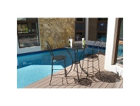 LivingStyles Brighton 3 Piece Iron Outdoor Bar Table Set, 76cm