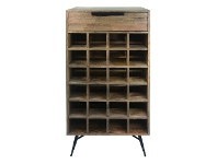 LivingStyles Watson Mango Wood & Metal Wine Rack