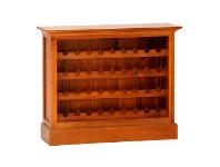 LivingStyles Boku Mahogany Timber Wine Rack, Small, Light Pecan