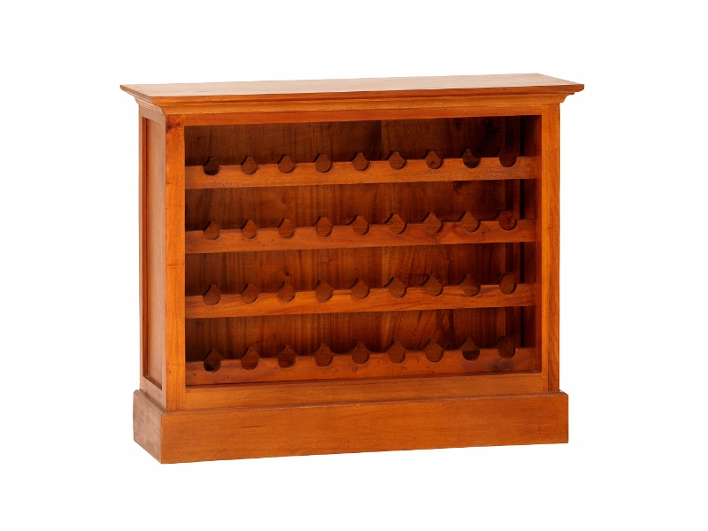 Boku Mahogany Timber Wine Rack, Small, Light Pecan