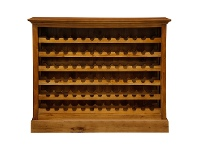 LivingStyles Boku Mahogany Timber Wine Rack, Large, Light Pecan