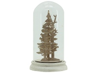 LivingStyles Christmas Tree Glass Display Dome with LED Lights