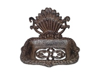 LivingStyles Morven Cast Iron Soap Holder, Antique Rust