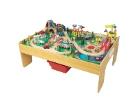 LivingStyles KidKraft Adventure Town Railway Train Set & Table with EZ Kraft Assembly